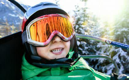 Børn på skiferie i Norden