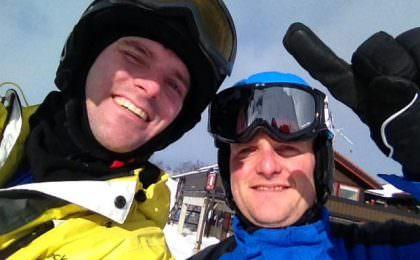 Venner på skitur i Hemsedal