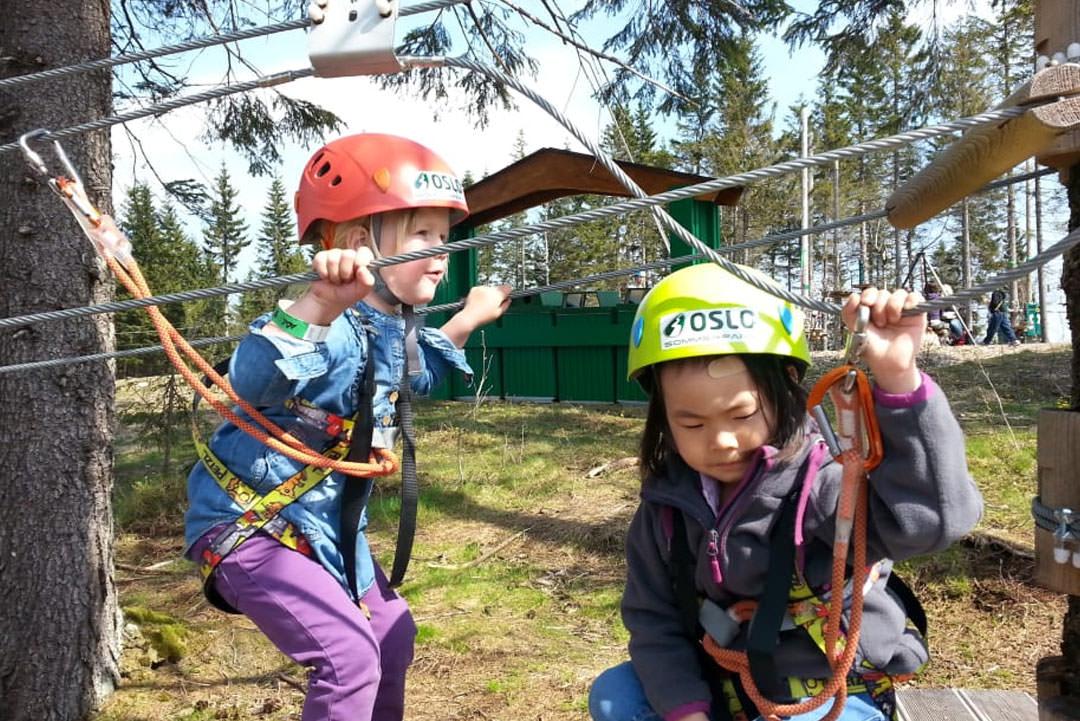 Klatring for store og små i Oslo Sommerpark