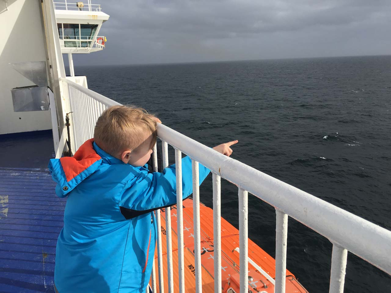 På vej med Stena Jutlandica