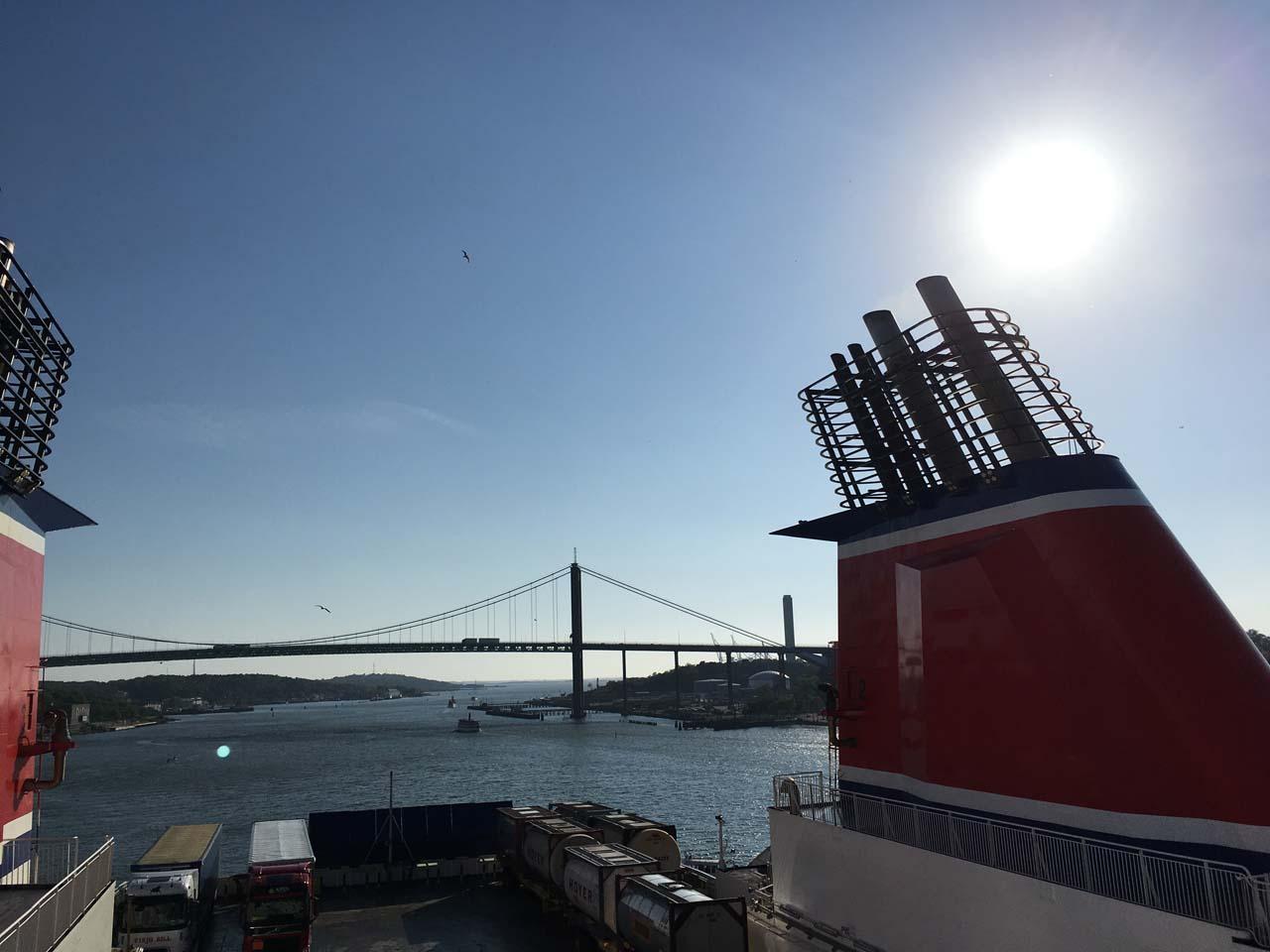 Så sejler vi fra Göteborg