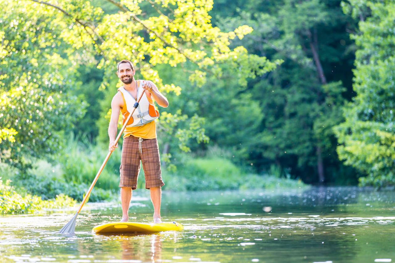 stand up paddle på Fylleån ved Halmstad